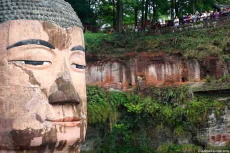Chine, Leshan, Bouddha géant