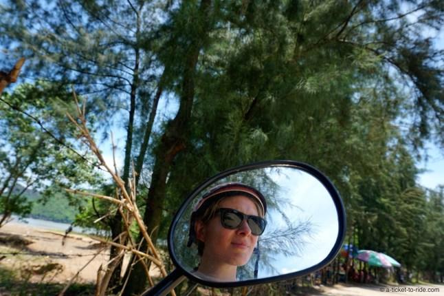 Vietnam, Cat Ba Island, en scooter