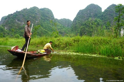 Vietnam, Tam Coc, sur la barque