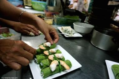 Vietnam, rouleaux de printemps au roquefort