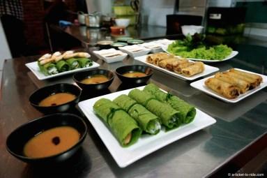 Vietnam, nems et rouleaux de printemps au roquefort