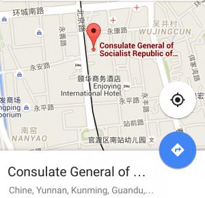 Carte Kunming