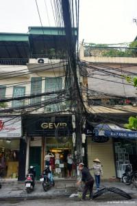 Vietnam, Hanoï, électricien