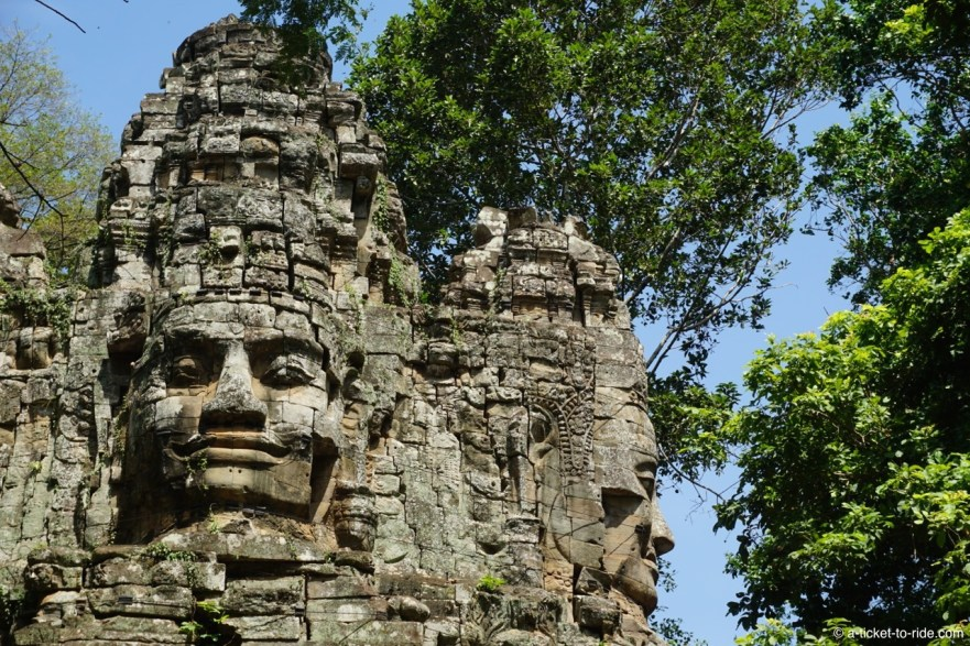 Cambodge, Angkor, entrée Angkor Thom
