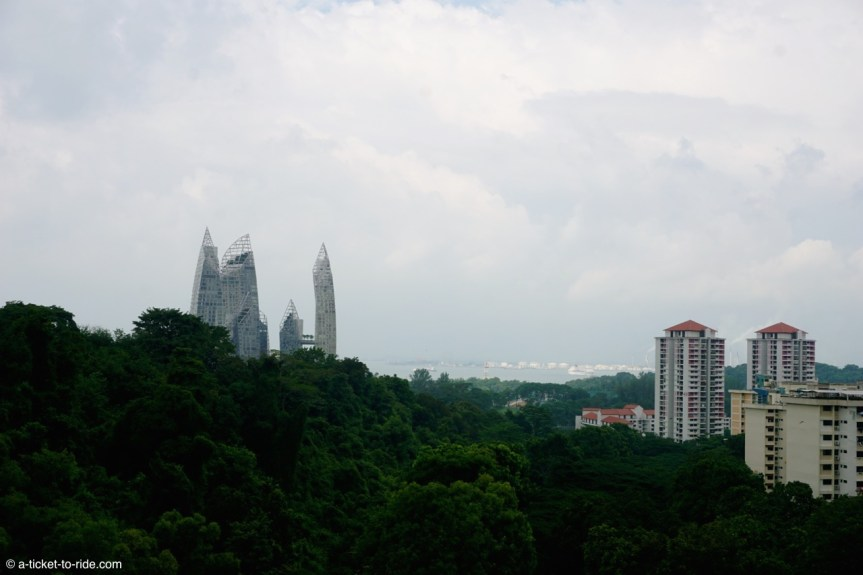 Singapour, vue depuis Henderson waves