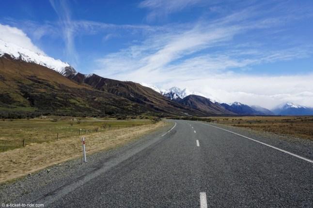 Nouvelle-Zélande, en route vers le Mount Cook avec Ritchie