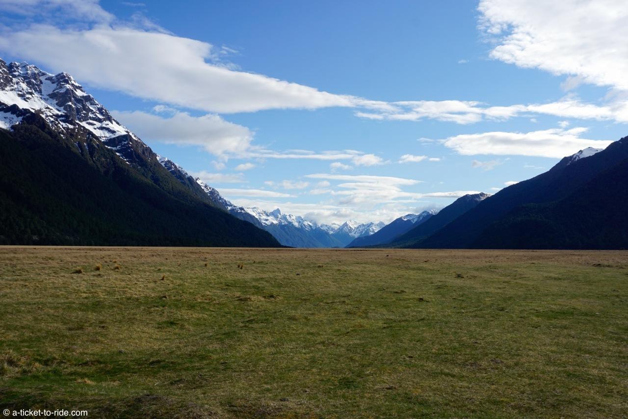Nouvelle-Zélande, Milford Sound, sur la route
