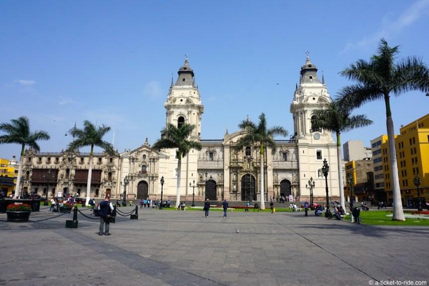 Pérou, Lima, plaza mayor