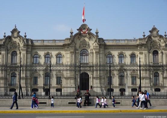 Pérou, Lima, palais présidentiel