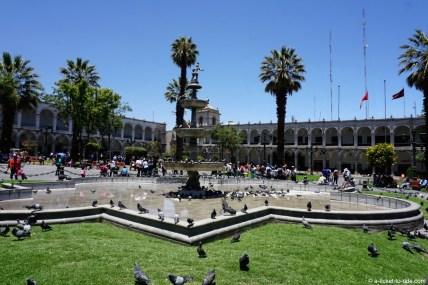 Pérou, Arequipa, plaza de armas