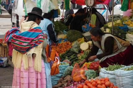 Pérou, marché de Puno