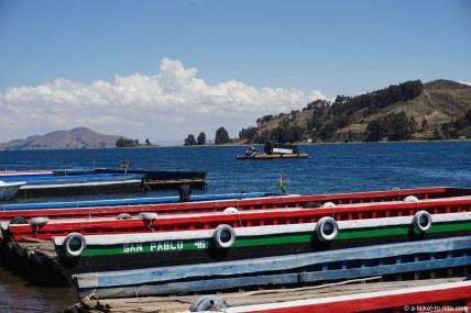 Bolivie, bac du détroit de Tiquina