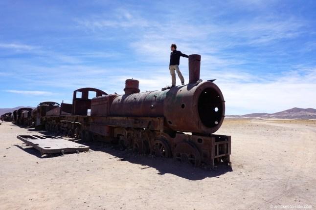 Bolivie, Uyuni, cimetière de train