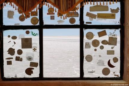 Bolivie, Salar d'Uyuni, à l'intérieur du musée de sel