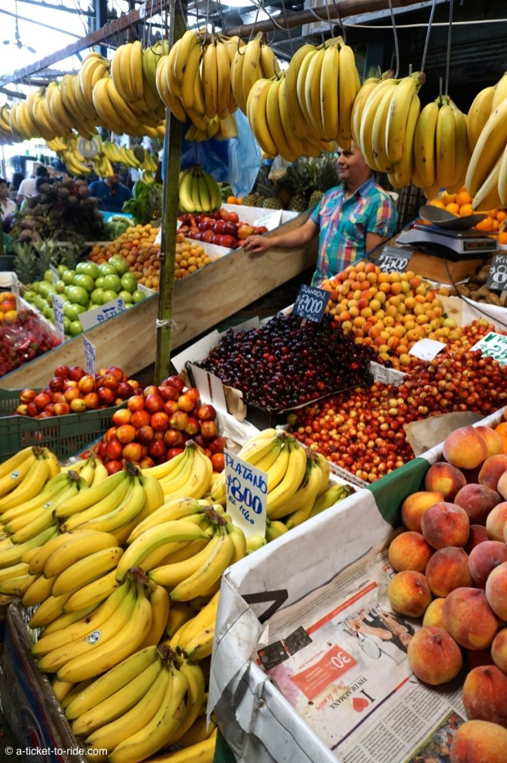 Chili, Santiago, marché central de la Vega