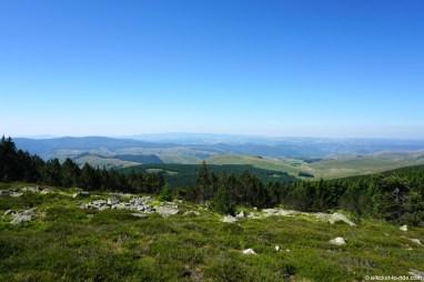 France, GR70, descente du Mont Lozère