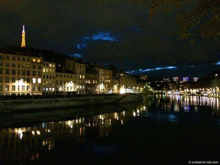 Lyon, by night