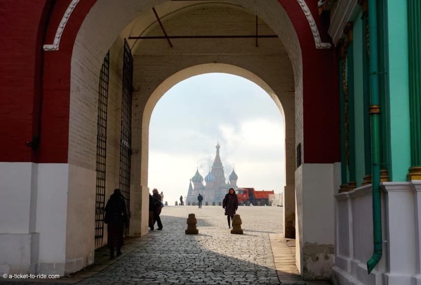 Russie, Moscou, vue sur la place Rouge