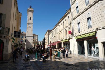 France, Nîmes, place de l'Horloge