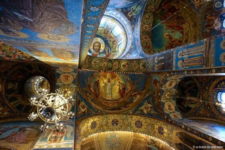 Russie, Saint-Pétersbourg, église Saint-Sauveur-sur-le-sang-versé