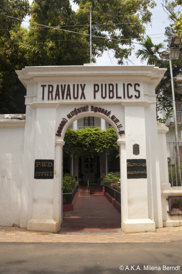 Inde, Pondichéry, quartier français