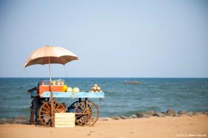 Inde, Pondichéry, le long de la jetée