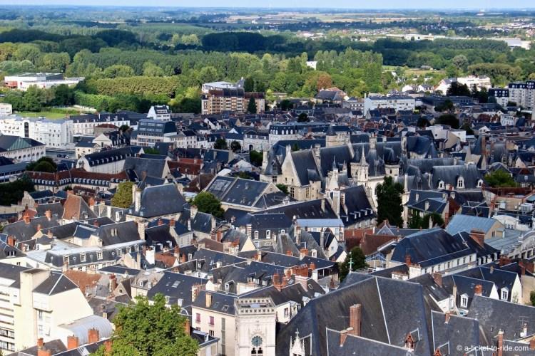 Bourges, vue sur la ville depuis la cathédrale