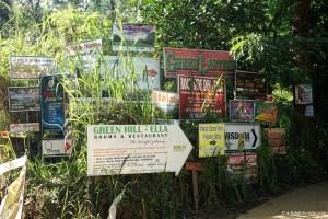 Sri Lanka, Ella, pollution publicitaire