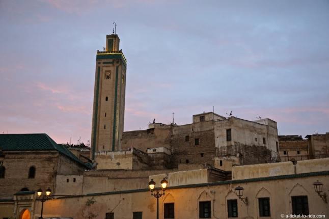 Fès, place Rcif, minaret