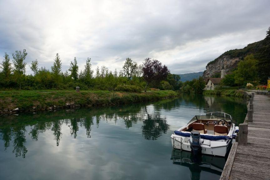 Savoie, village de Chanaz, canal de Saviere