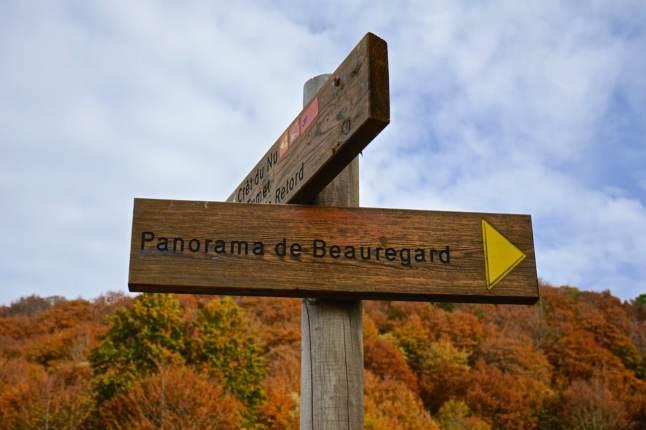 Ain, Plateau de Retord, panorama de Beauregard