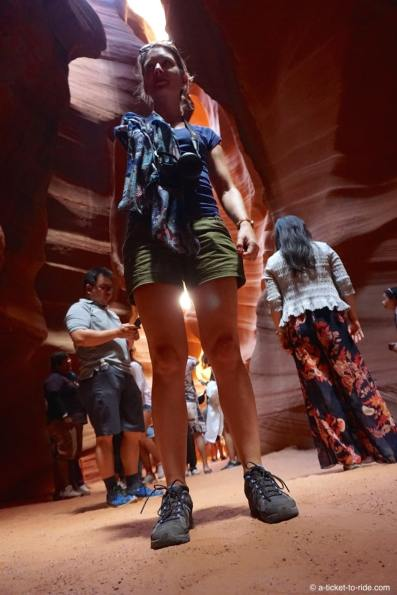 Upper Antelope Canyon, foule