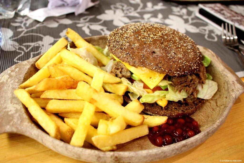 Laponie finlandaise, burger au renne