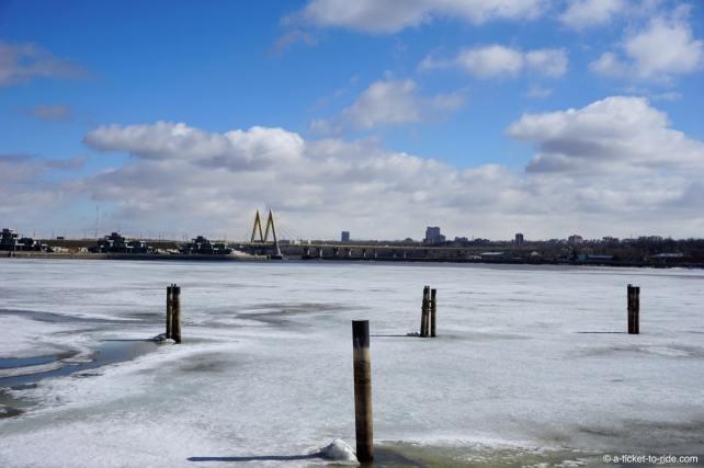 Russie, Kazan, Volga en glace