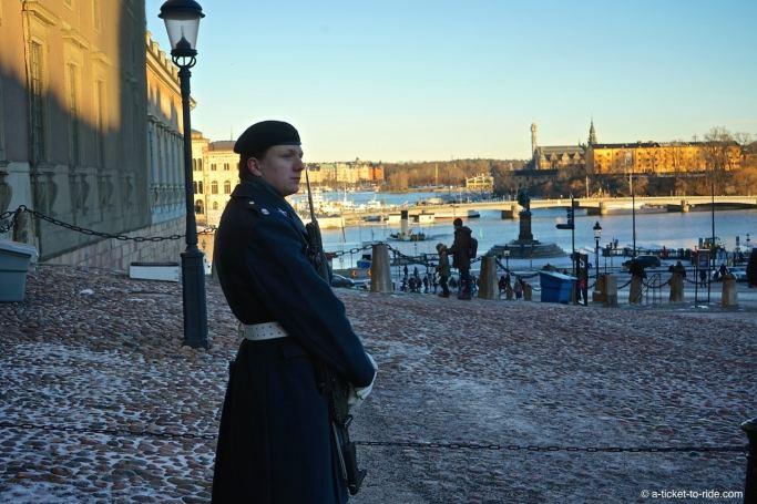 Stockholm, garde palais royal