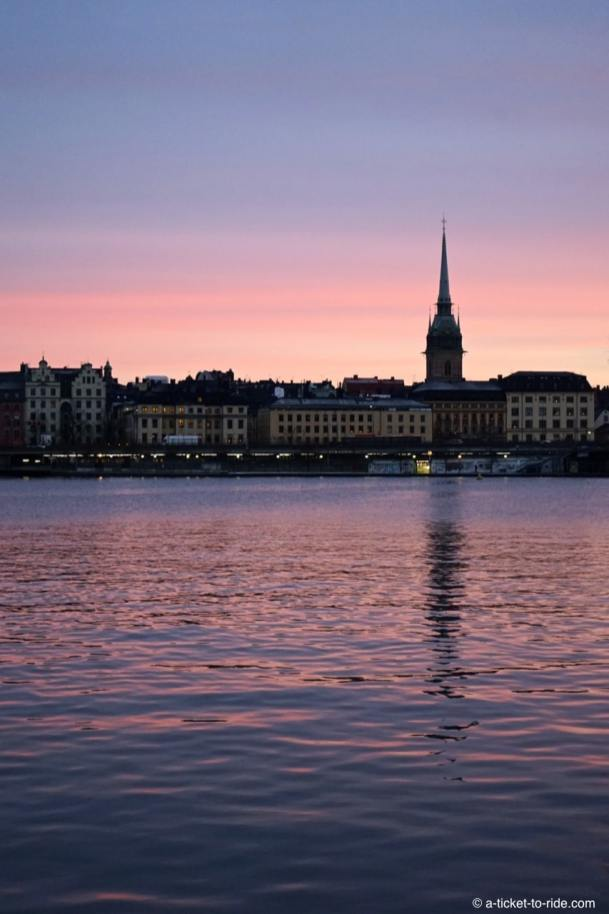 Stockholm, lever de soleil