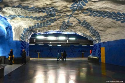 Stockholm, métro T-centralen