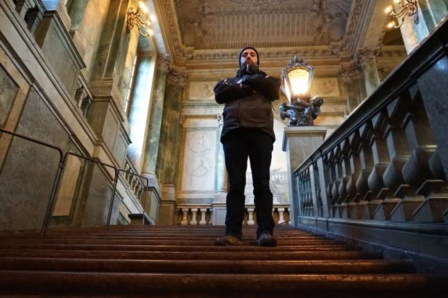 Stockholm, palais royal, escalier