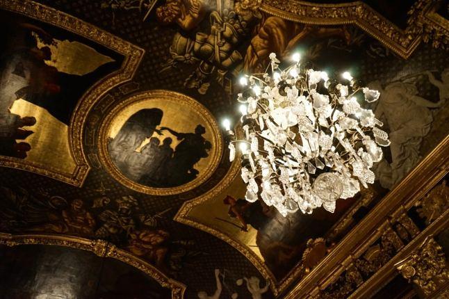 Stockholm, palais royal, lustre