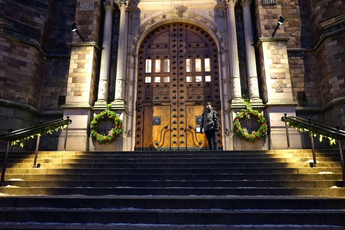 Stockholm, Musée nordique, porte d'entrée