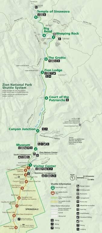 Zion NP, shuttle bus