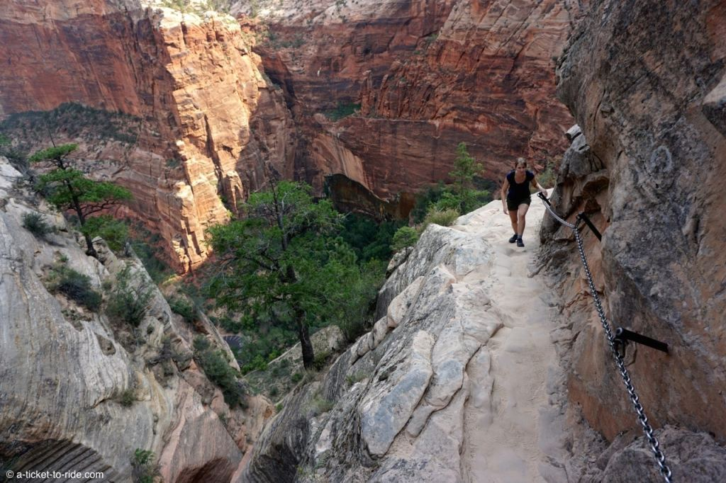 Zion national park, hidden canyon trail