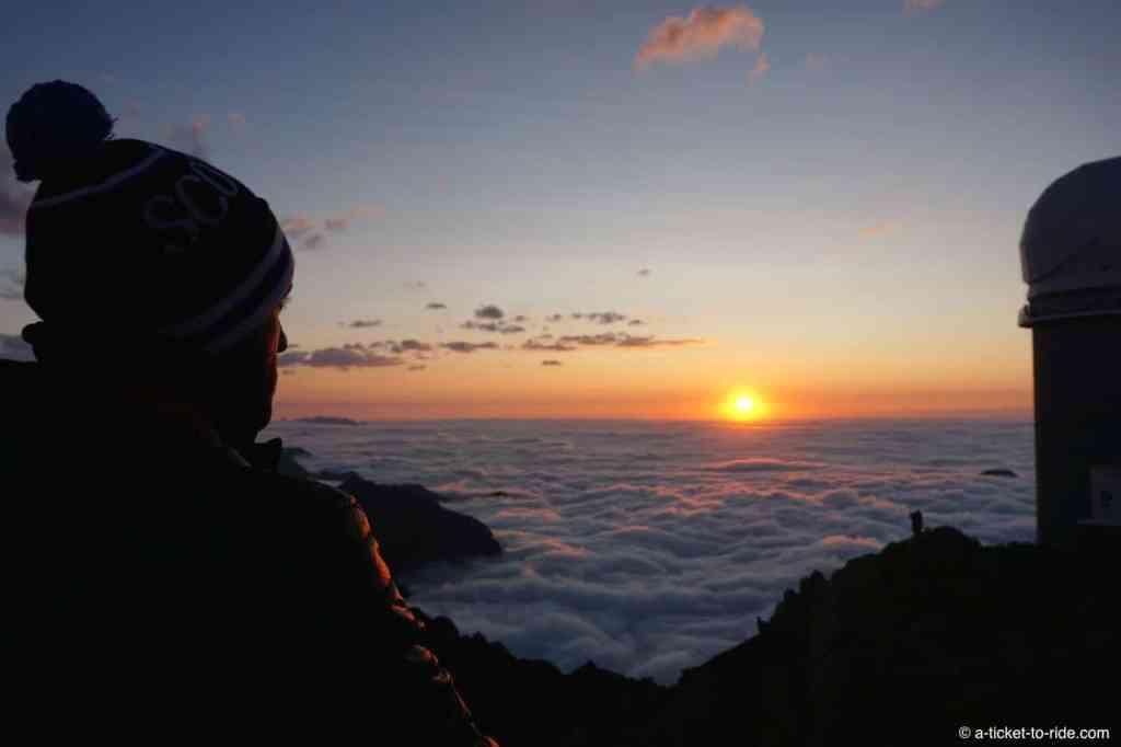 Coucher de soleil au Pic du Midi, Mathieu