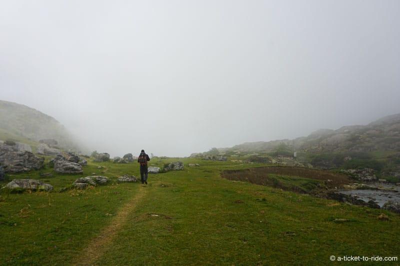 Plateau de Coumély dans le brouillard