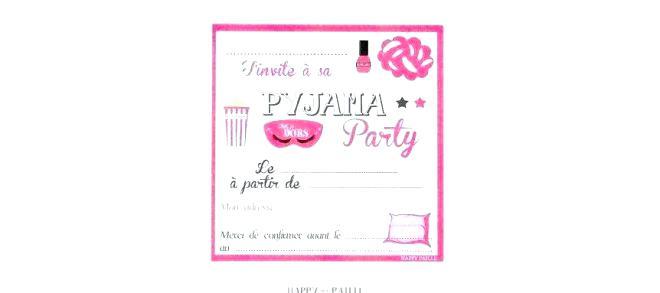 texte invitation soiree pyjama soldes