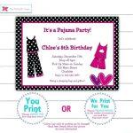 carte d invitation pyjama party a