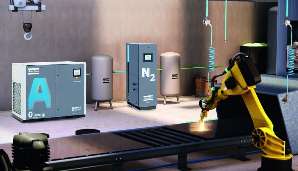 NGM nitrogen generator - with AQ oil-free screw compressor