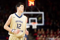 George Washington's Yuta Watanabe finished with 12 points in his first Atlantic 10 tournament game.