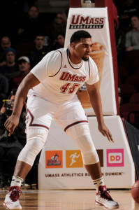 UMass' Rashaan Halloway likes to wear the No.45 jersey because of its slimming quality.