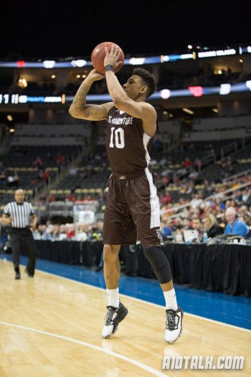 Jaylen Adams is shooting a career-best 49.2% from three this season at St. Bonaventure.